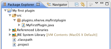 Icy4Eclipse : my first plugin - java perspective